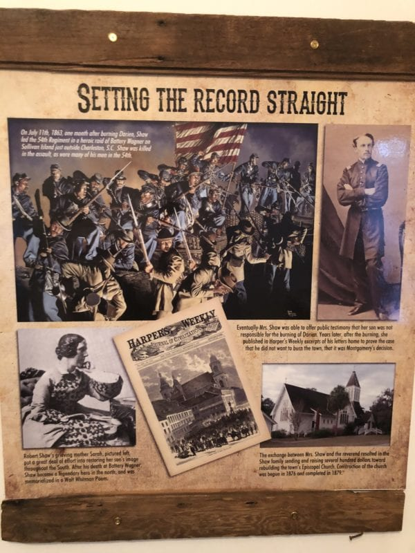 Darien and the 54th Massachusetts regiment