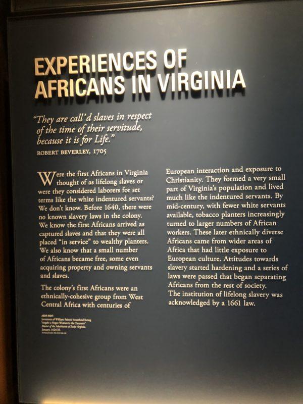 First women of Virginia